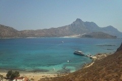 View from Gramvousa to Balos